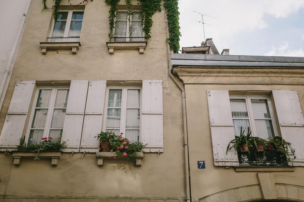 Paris old window shutters photo