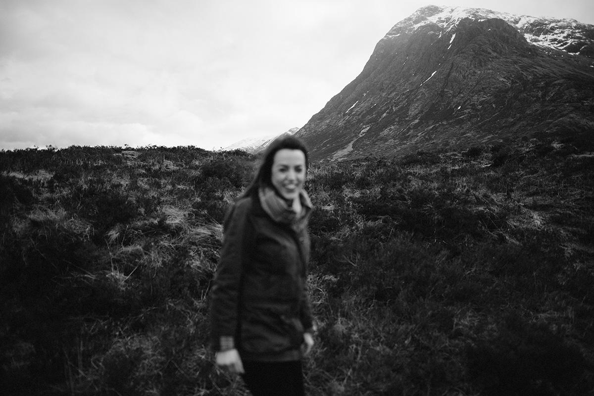 Laughing in the rain, Glencoe