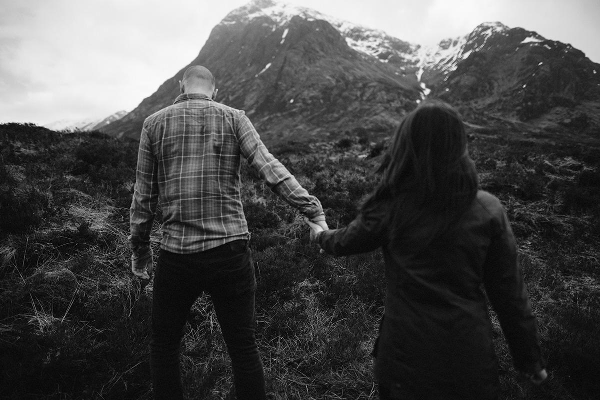 Take my hand- Adventure session Glencoe