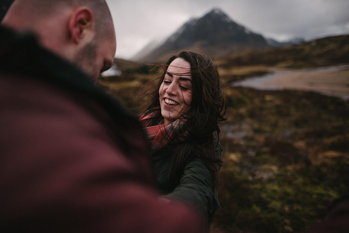 Engagement shoot, Glencoe