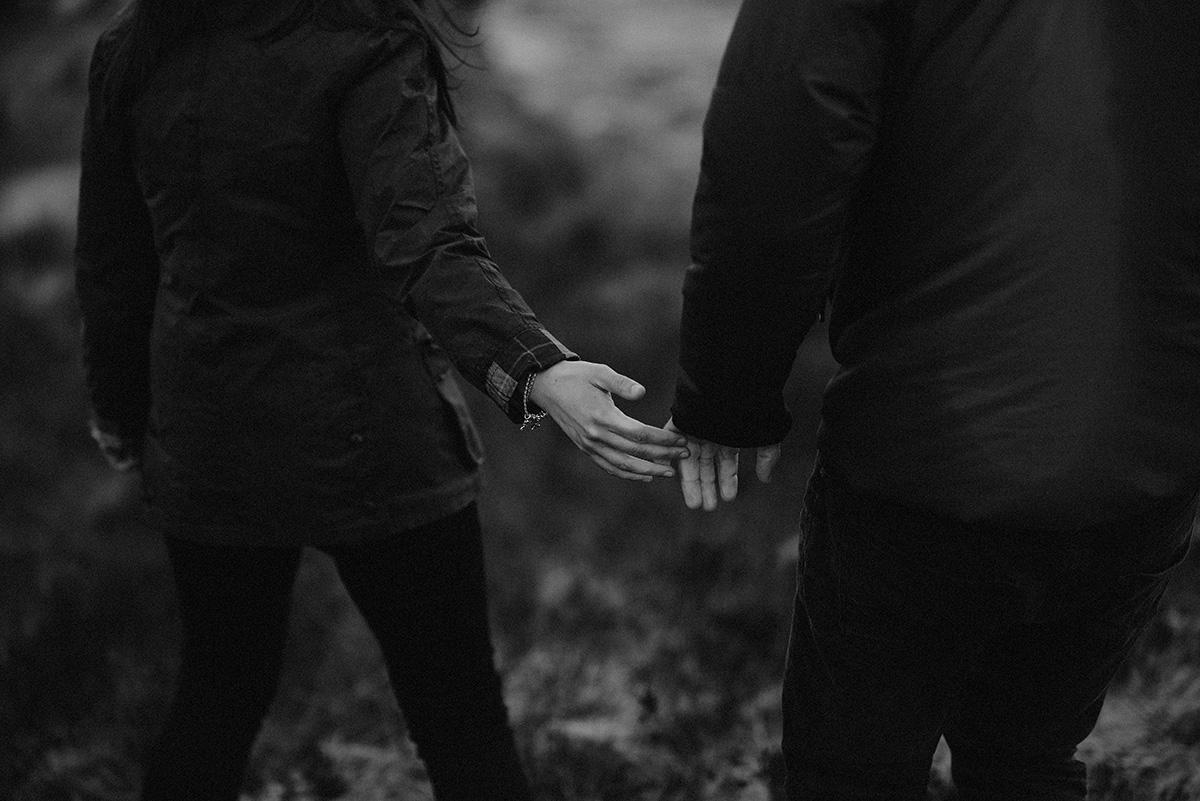 Take my hand, Glencoe Wedding Photographer
