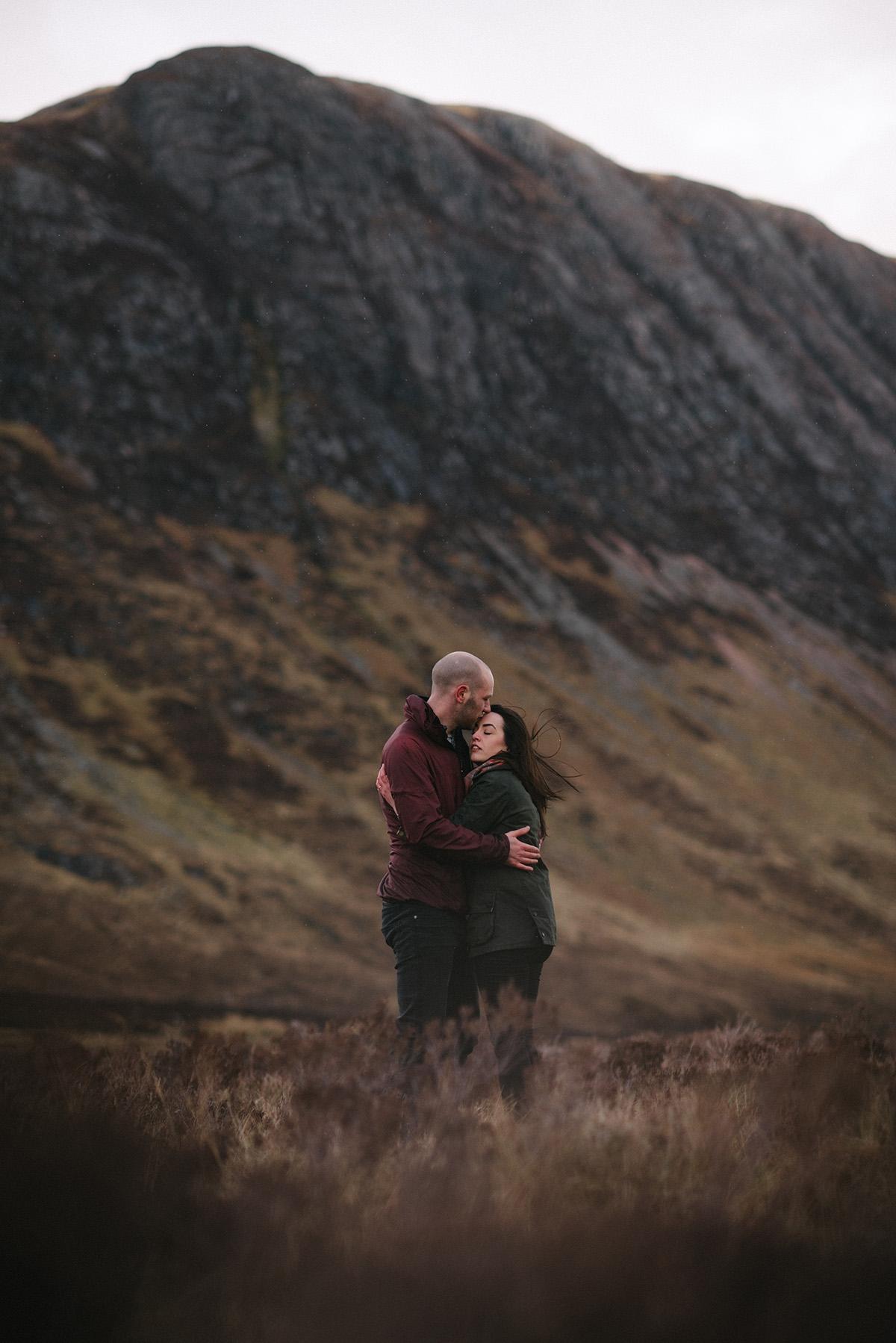 Glencoe intimate engagement shoot