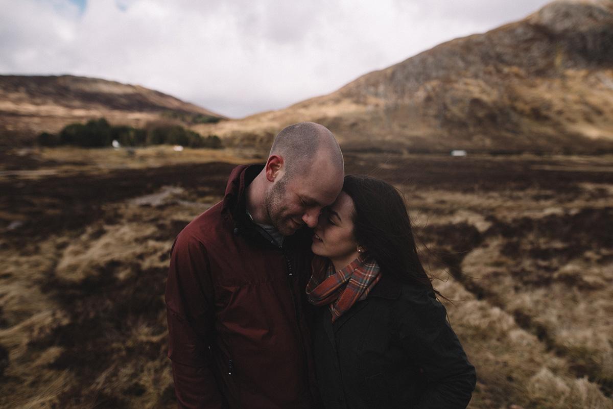 Intimate scottish elopement
