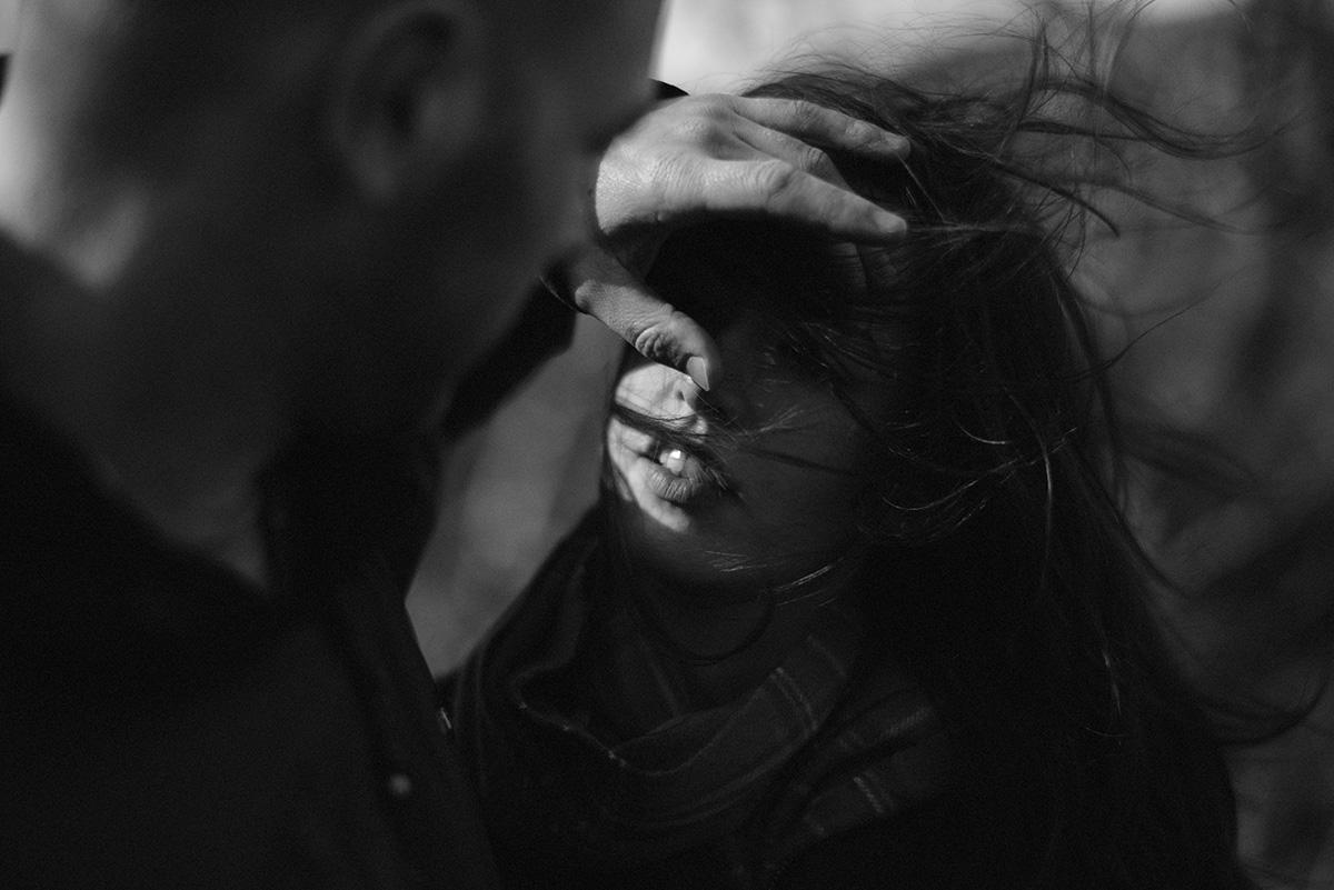 Subject light, breeze Glencoe, girl's lips
