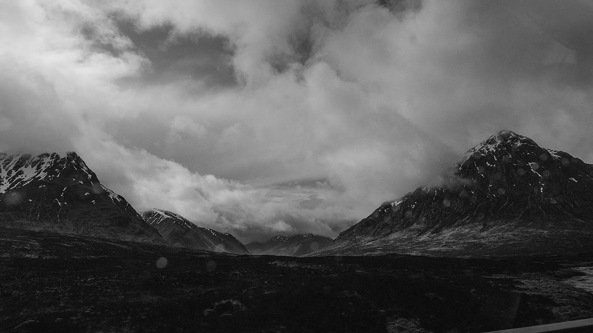 Stormy sky Highlands