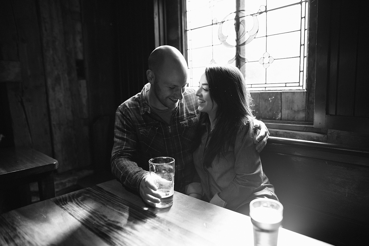 Couple pint in Glencoe
