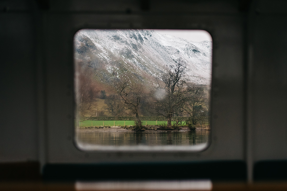 View from Ullswater steamer window