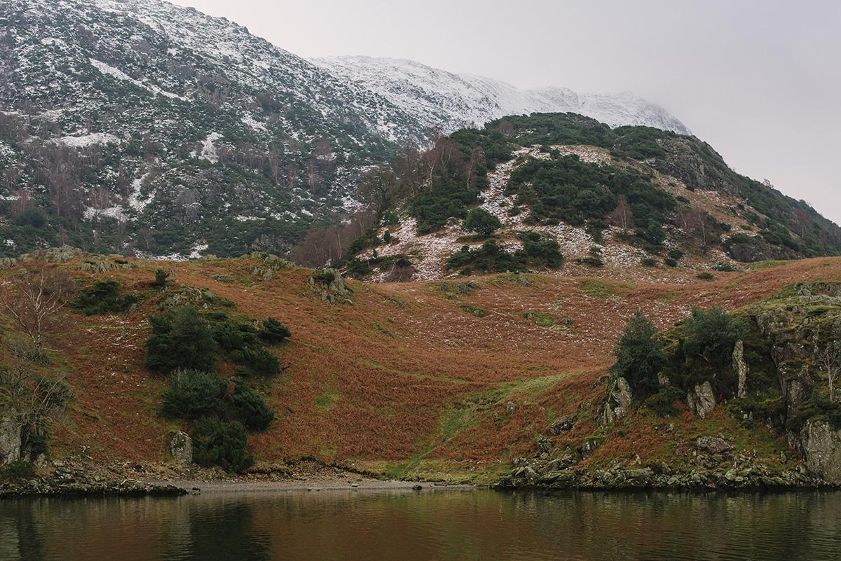 Ullswater mountains snow